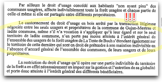 extrait de l'arrêt de la Cour de Cassation de Bordeaux du 25 janvier 2010